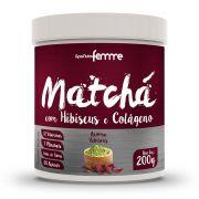 Matchá com Hibiscus e Colágeno - 200g - Apisnutri