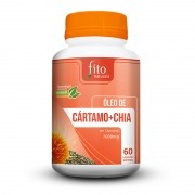 Óleo de Cártamo + Chia - 60 Cáps. - 1000mg - Fito Naturais