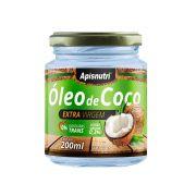 Óleo de Coco - Extra Virgem - 200ml - Apisnutri