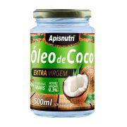 Óleo de Coco - Extra Virgem - 500ml - Apisnutri