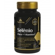 Selênio + Zinco + Vitamina C - 60 Cápsulas - NatusDay