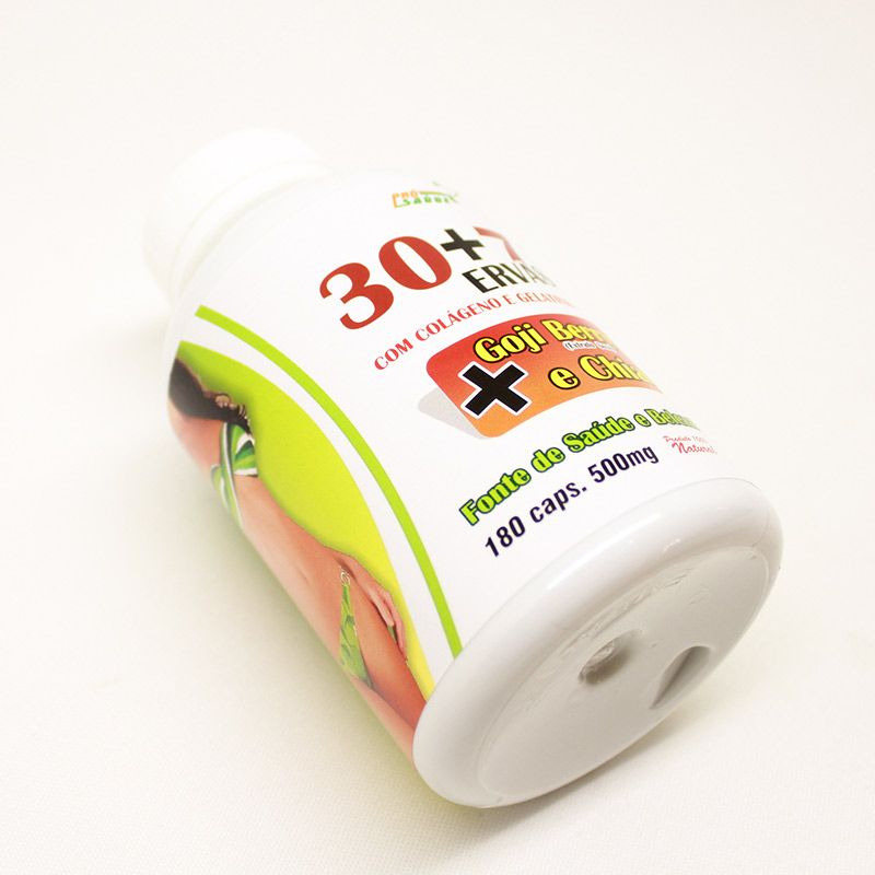 30+7 Ervas - Goji Berry e Chia - 180 Cáps. - 500mg - Pro Saúde