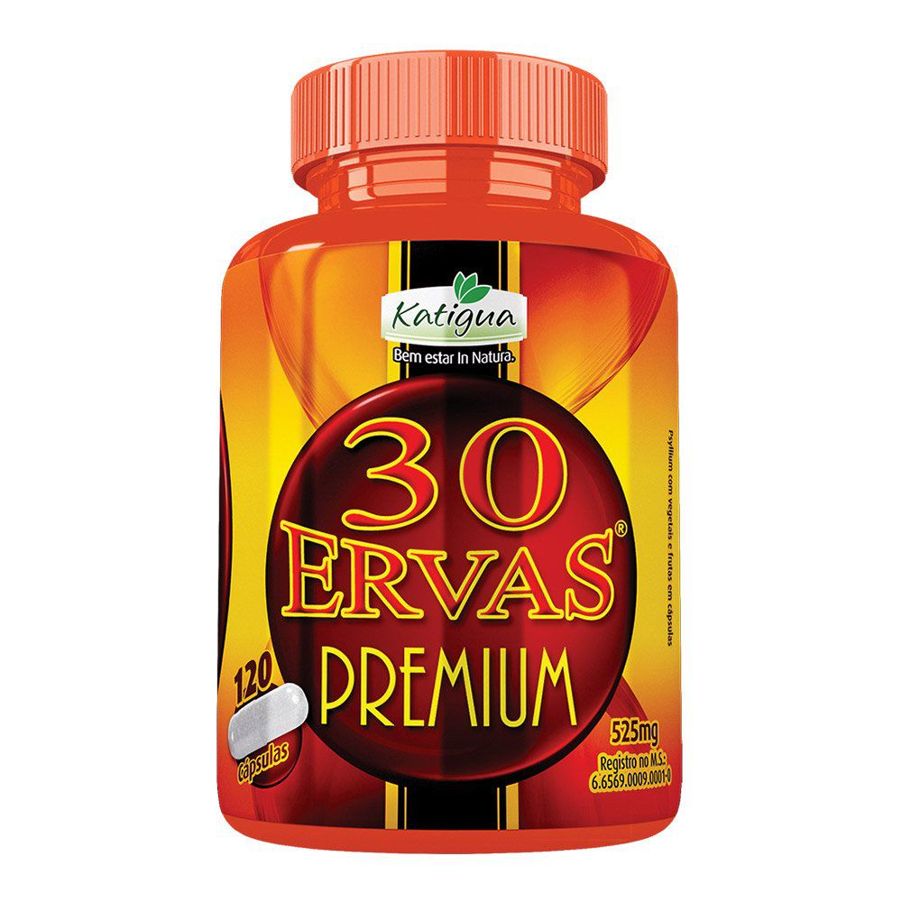 30 Ervas Chá Misto - Premium- 120 cáps. - 525mg - Katigua