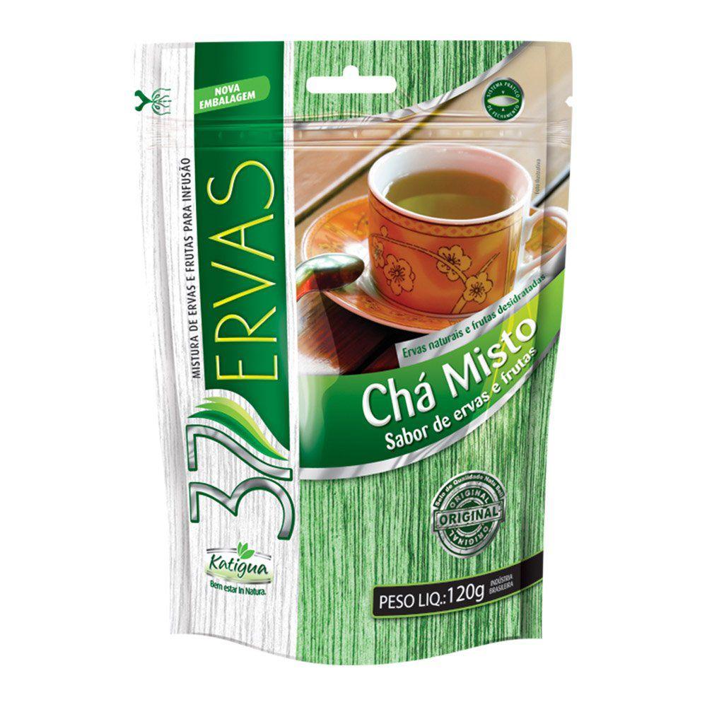 37 Ervas Chá Misto - Ervas e Frutas - 120g - Katigua