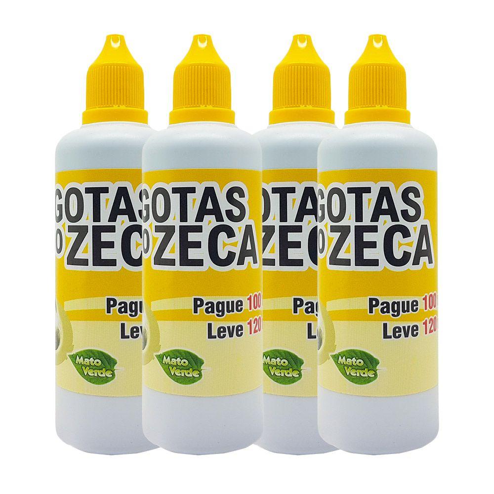4 Frascos de Gotas do Zeca - 120ml - Mato Verde
