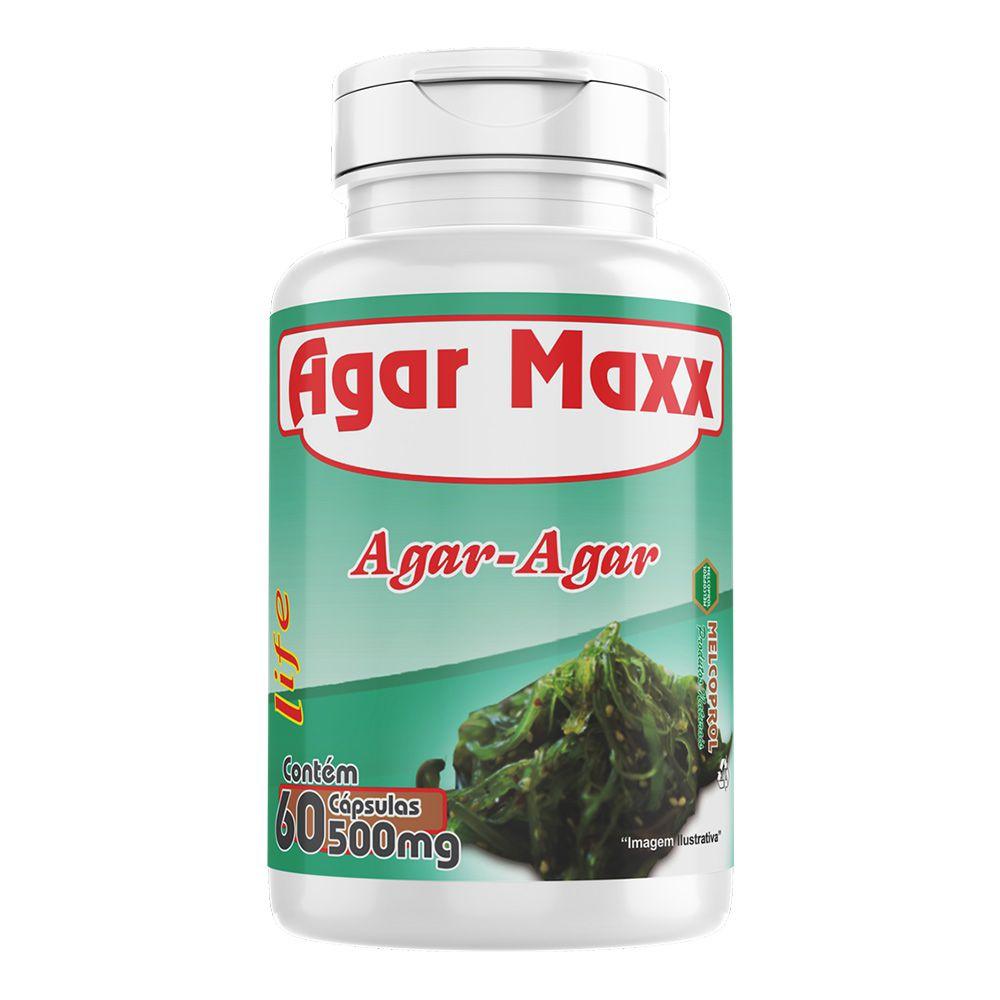 Agar Maxx - Aga-Agar - 60 cáps - 500mg - Melcoprol
