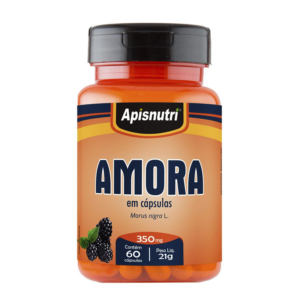 Amora Miúra - 60 Cáps. - 350mg - Apisnutri