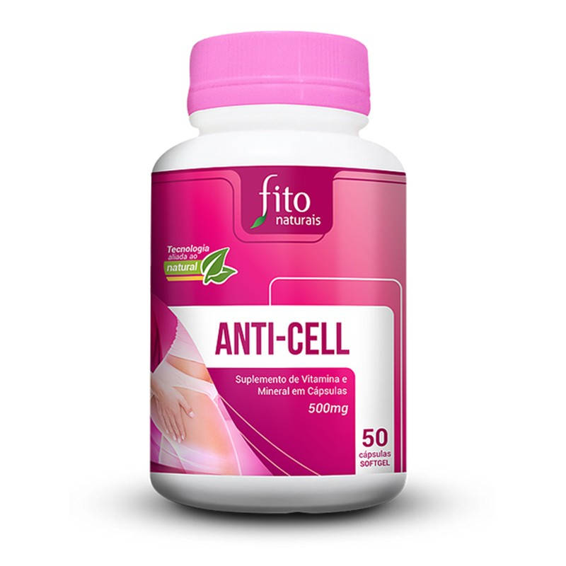 Anti-cell - 50 Cáps. - 500mg - Fito Naturais