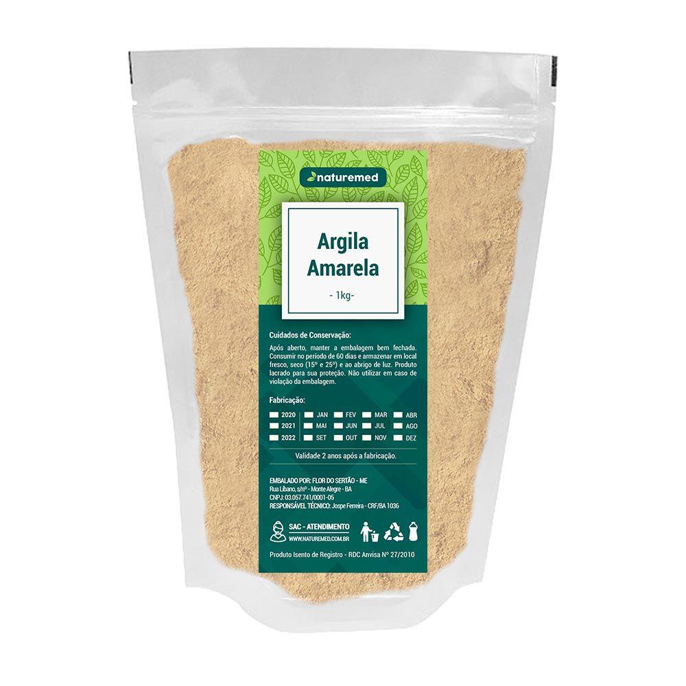 Argila Amarela - 1kg - Naturemed