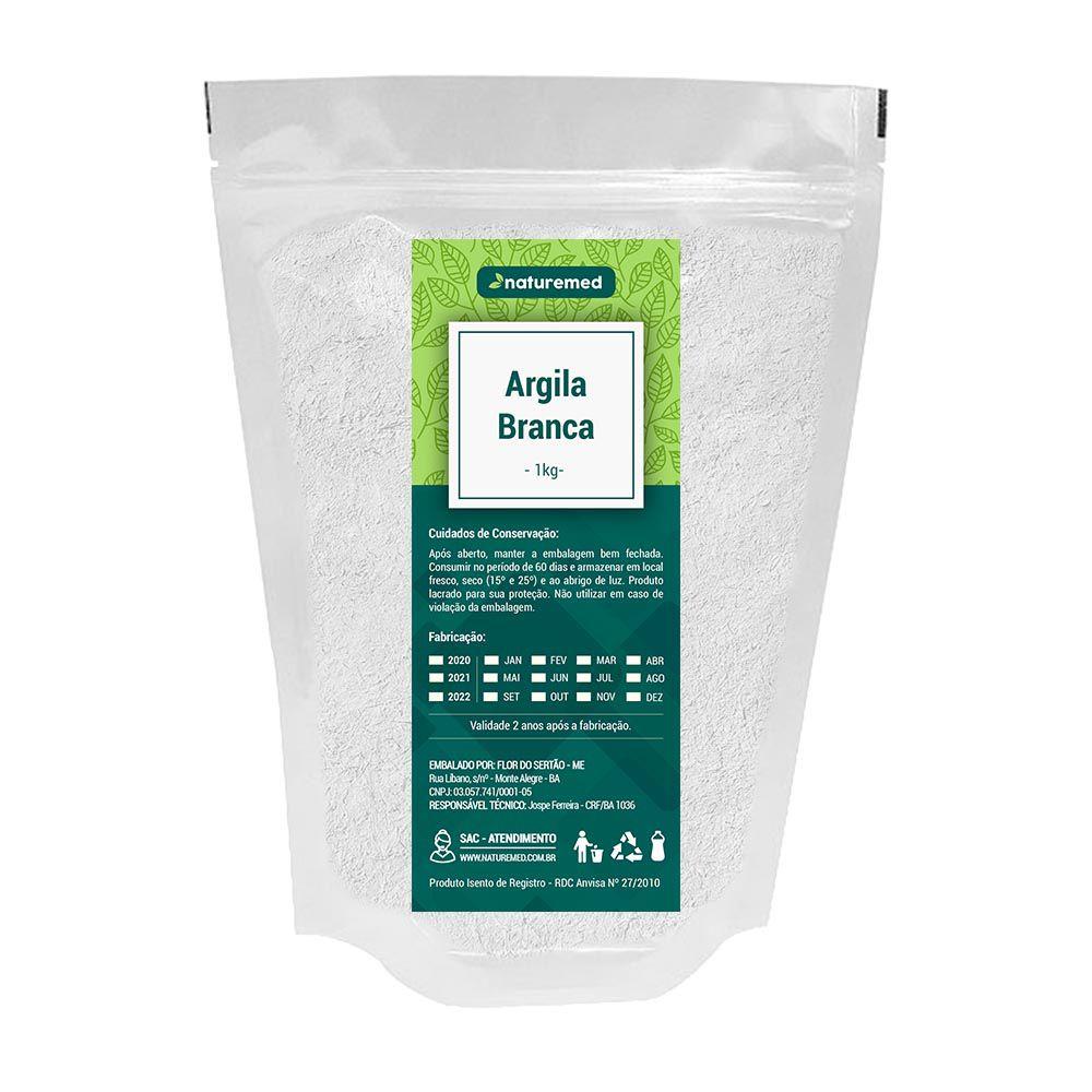 Argila Branca - 1Kg - Naturemed