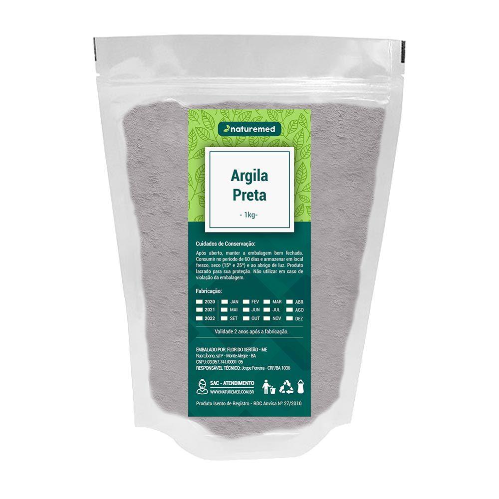 Argila Preta - 1Kg - Naturemed