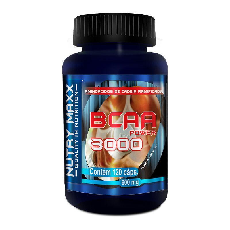 BCAA 3000 - 120 cáps. - 600mg - Melcoprol