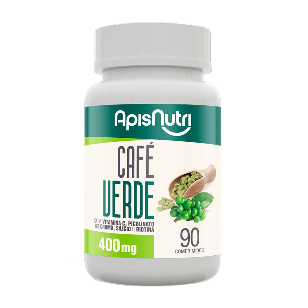 Café Verde - 90 Cáps. - 400mg - Apisnutri