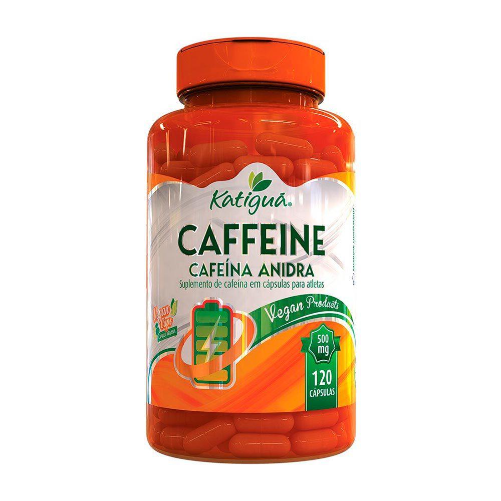 Caffeine - Cafeína Anidra -120 Cáps - 500mg Katiguá