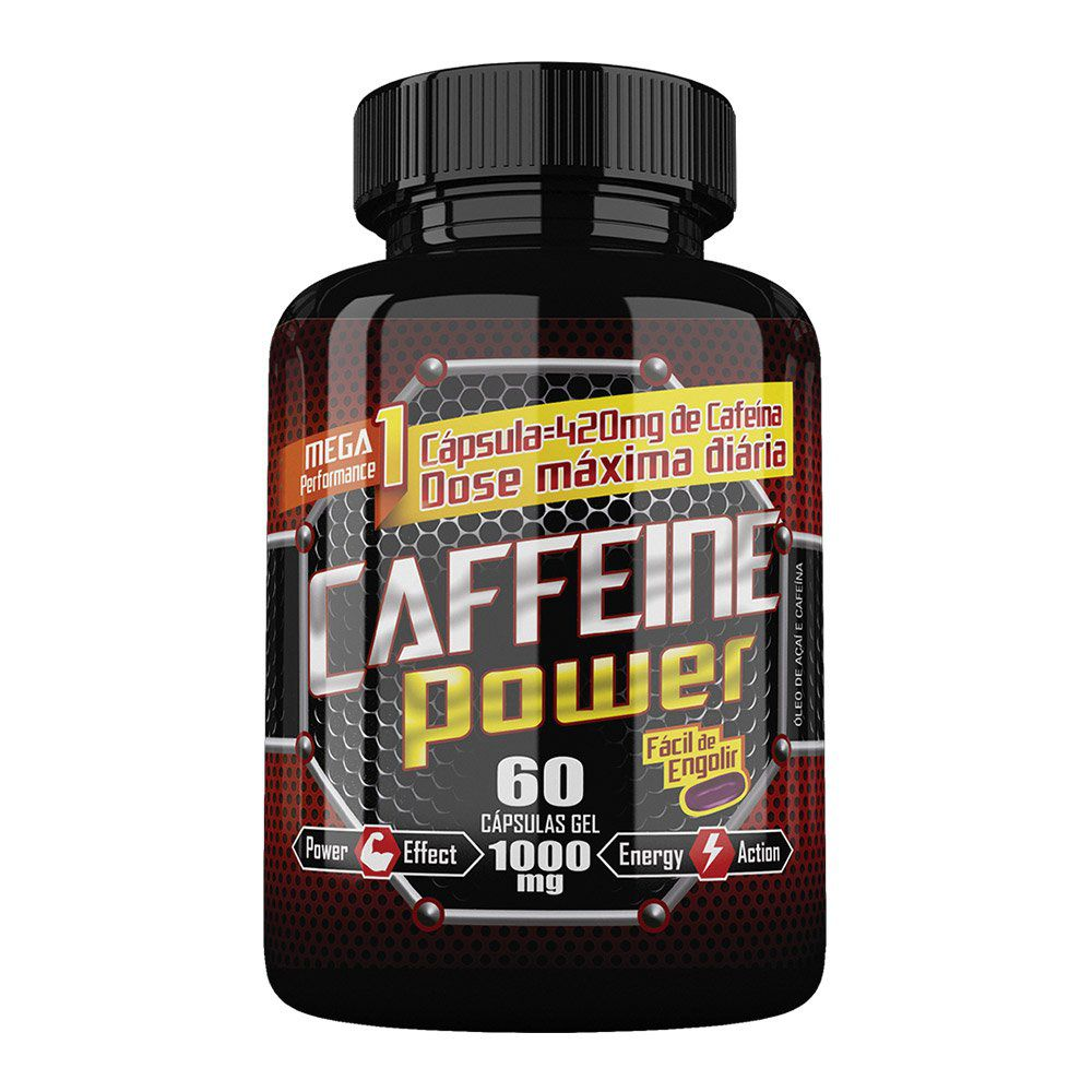 Caffeine Power - 60 Cáps. -1000mg - Katiguá