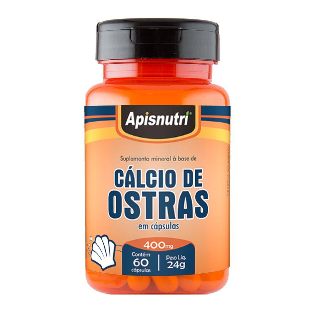 Cálcio de Ostras - 60 Cápsulas - Apisnutri