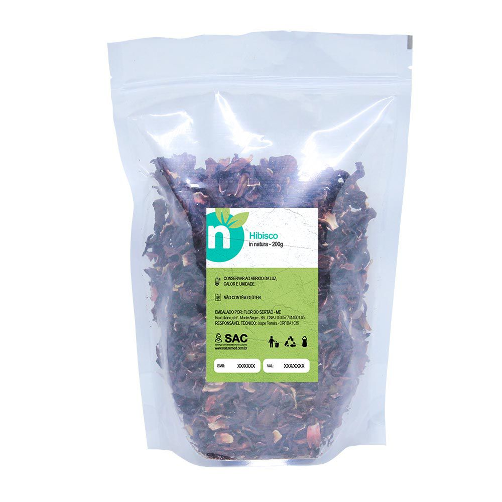 Chá de Hibisco - 200g - Naturemed