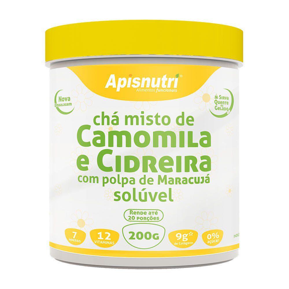 Chá Misto de Camomila e Cidreira com Polpa de Maracujá Solúvel - 200g - Apisnutri