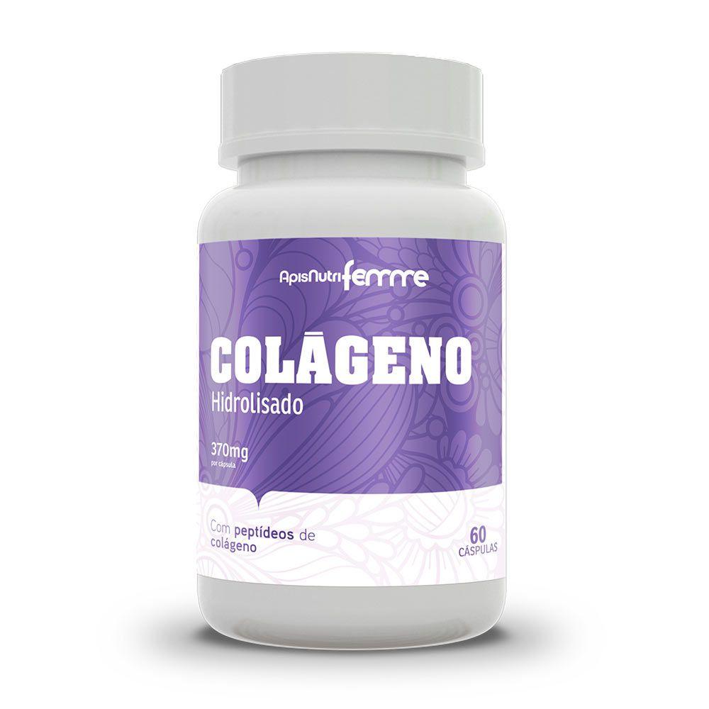 Colágeno Hidrolisado - 60 Cápsulas - Apisnutri