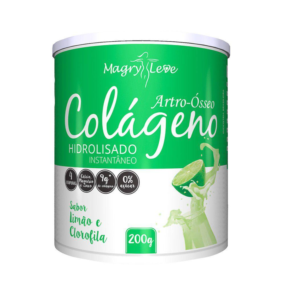 Colágeno Hidrolisado - Limão e Clorofila - 200g - Apisnutri