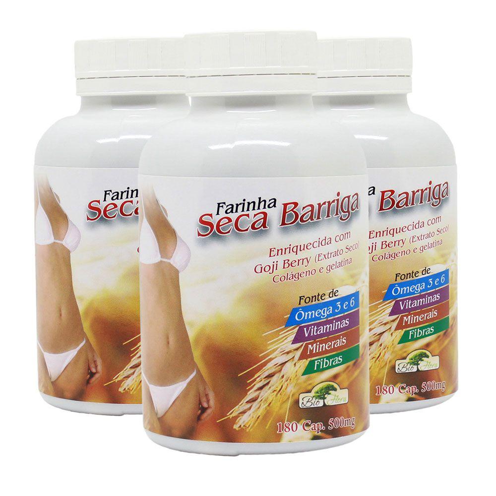 Combo Farinha Seca Barriga - 540 cápsulas - Bio Flora