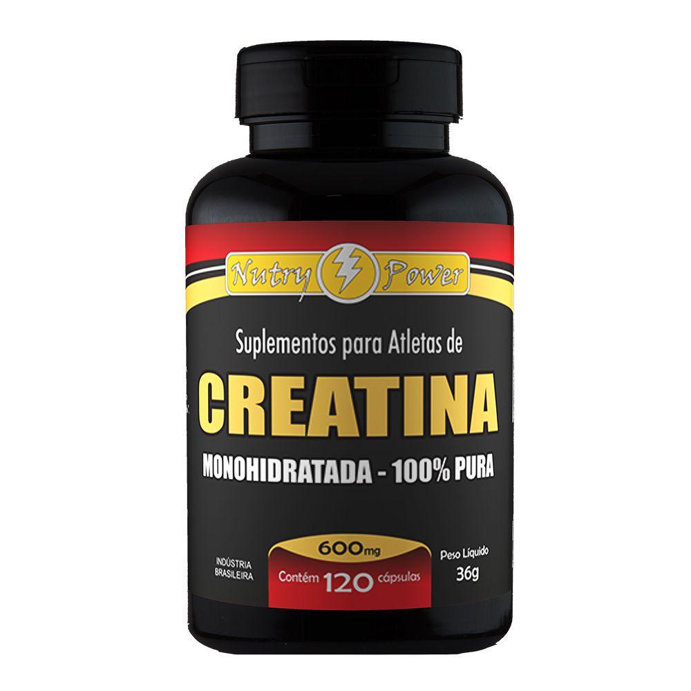 Creatina Monohidratada - 120 cáps. - 600mg - Apisnutri