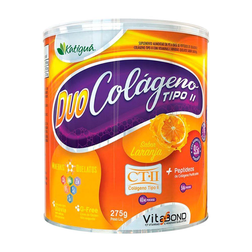 Duo Colágeno - Bioativo Verisol - Sabor Laranja -  275g - Katiguá