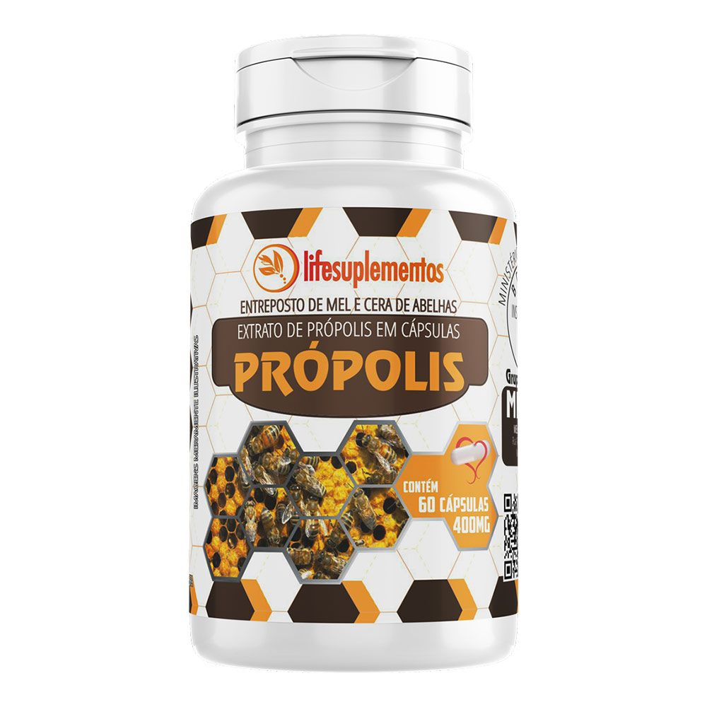 Extrato de Própolis - 60 Cápsulas - Melcoprol