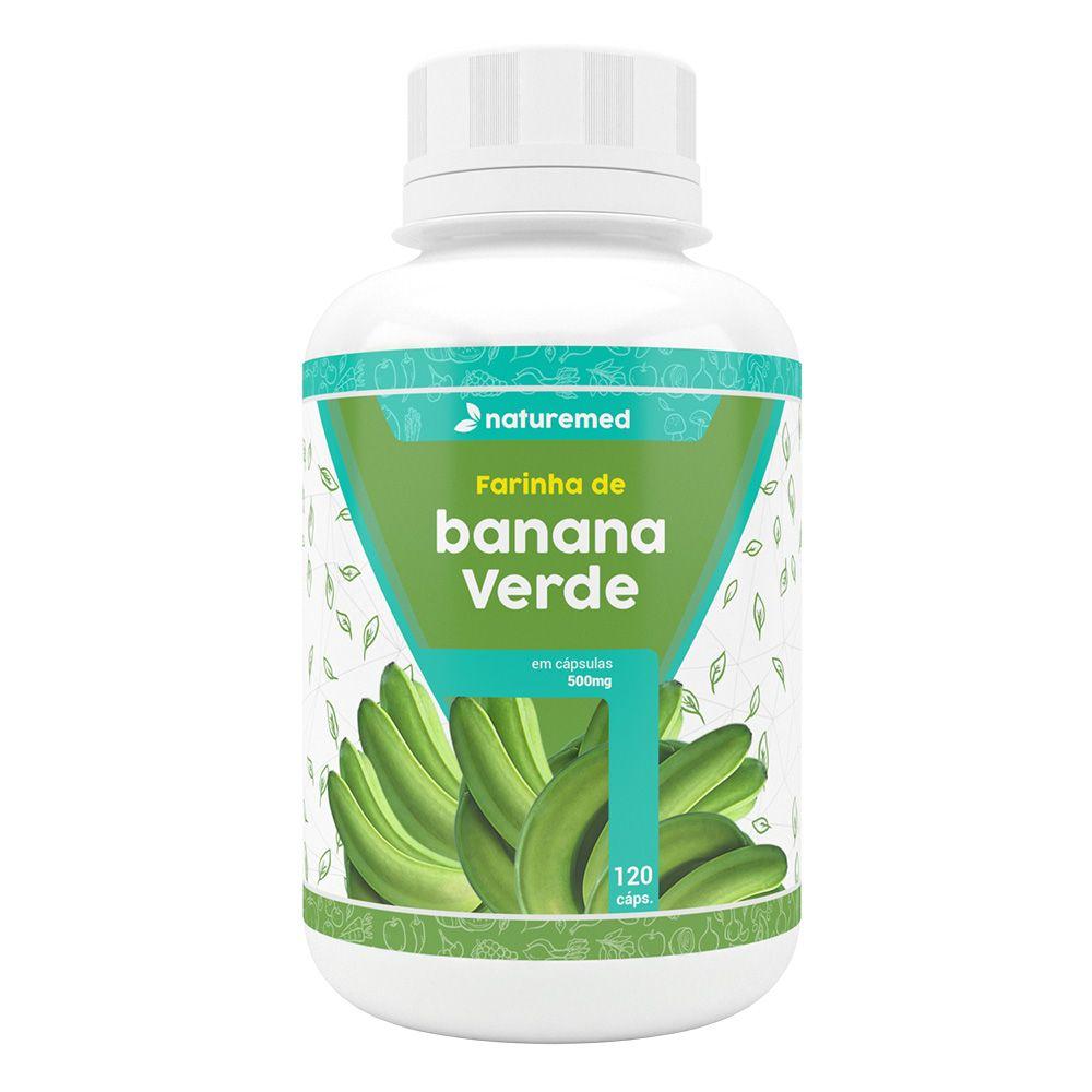 Farinha de Banana Verde - 120 cáps. - 500mg