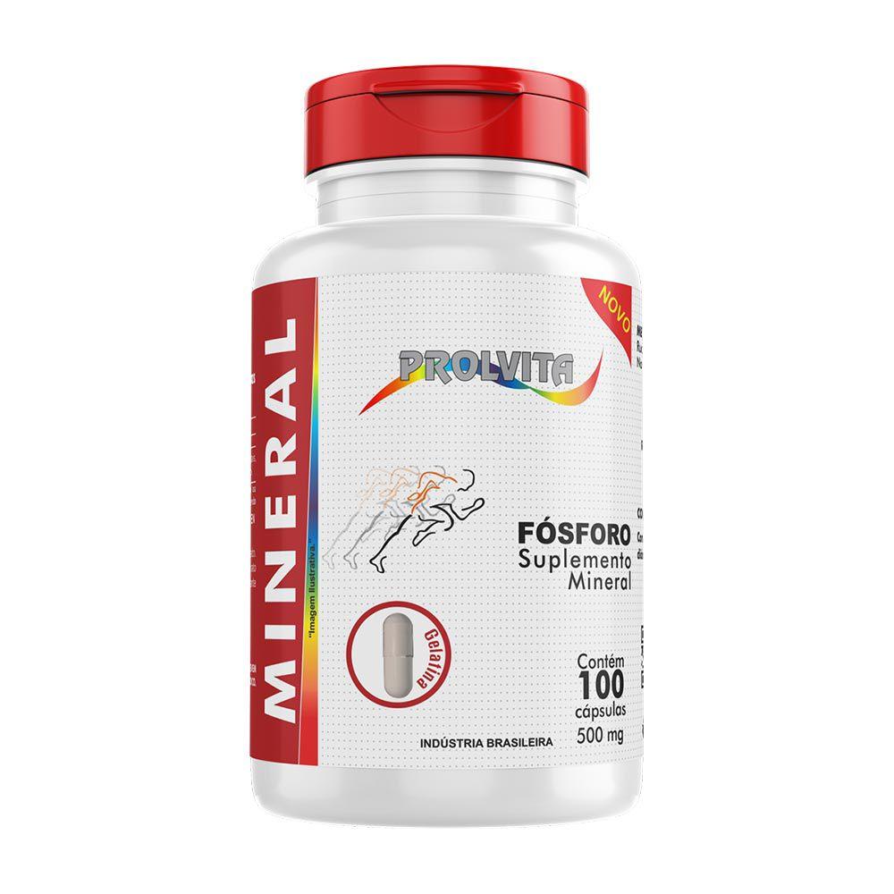 Fósforo - Suplemento Alimentar -  100 Cáps. - 500 mg - Melcoprol