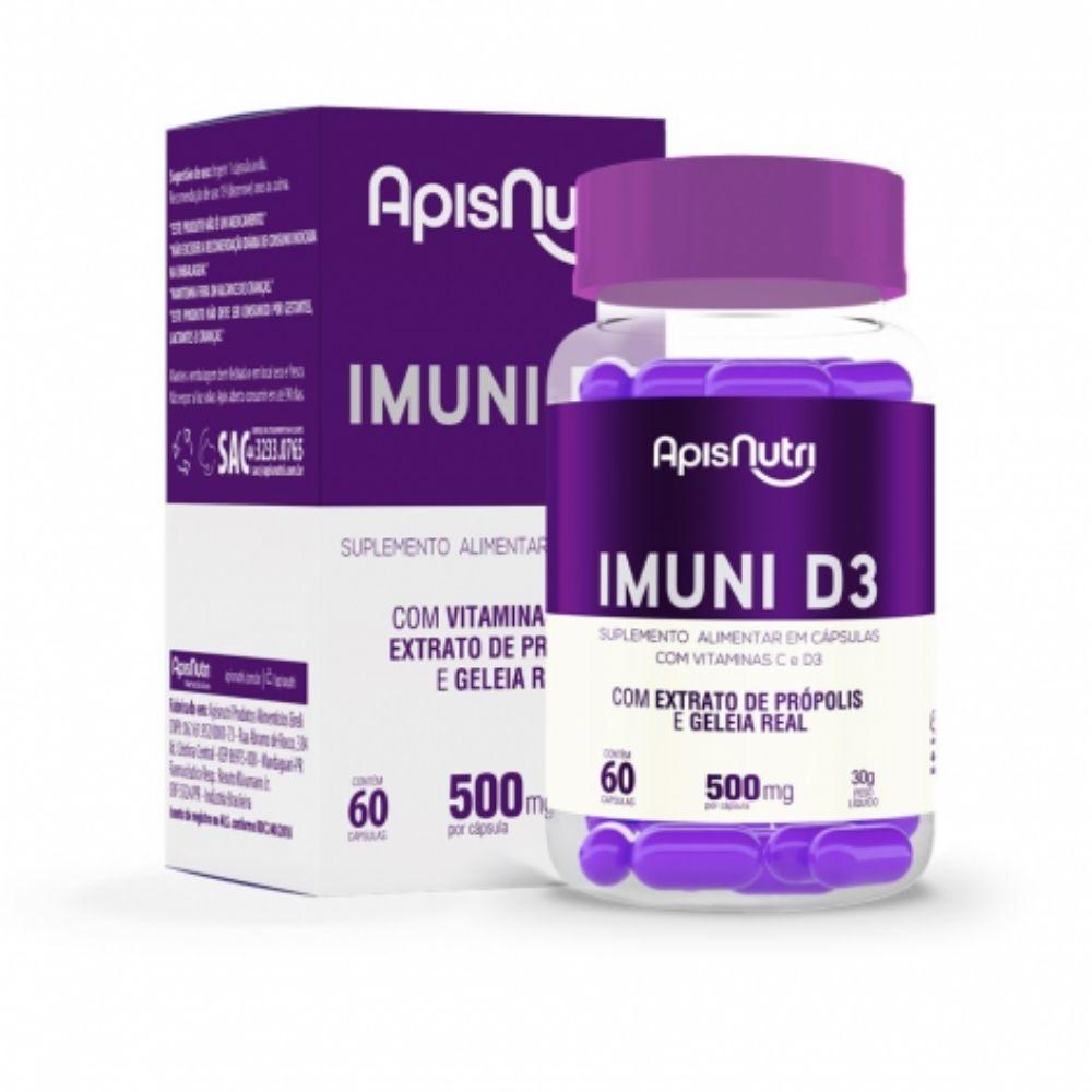 Imune D3 - 60 Cápsulas - Apisnutri