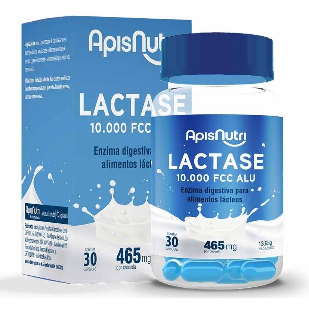 Lactase 10.000 FCC - 30 Cápsulas - Apisnutri