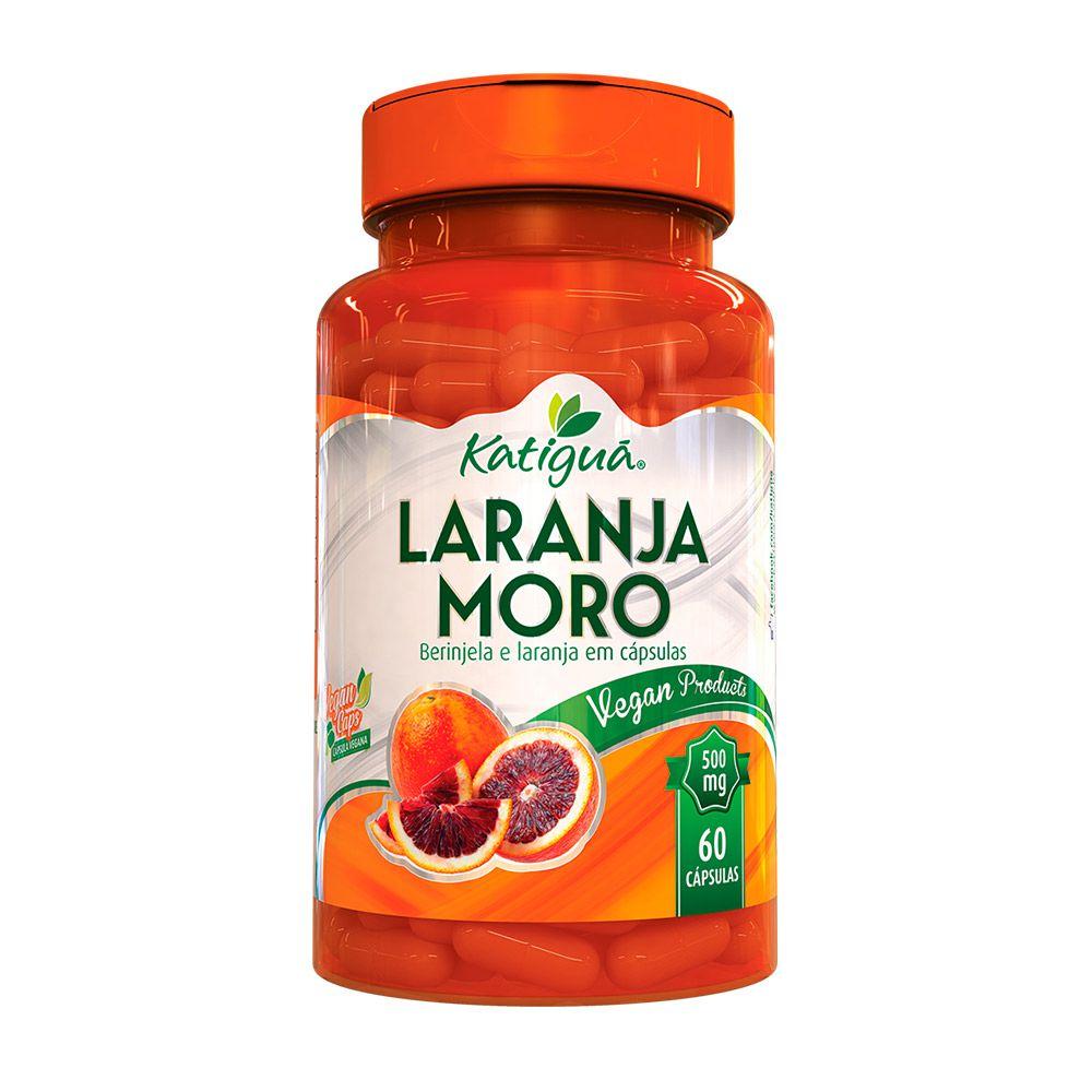 Laranja Moro C/ Berinjela (Morosil) - 60 Cáps. - 500mg - Katigua