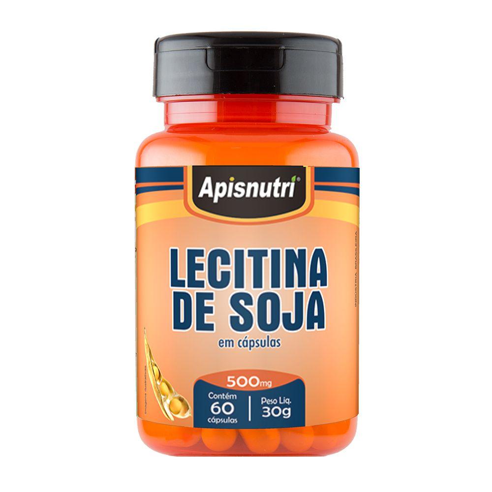 Lecitina de Soja - 60 Cáps. - 500mg - Apisnutri