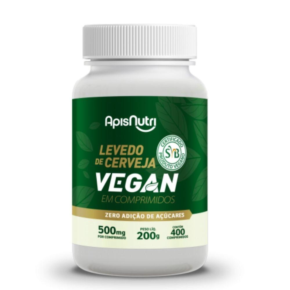 Levedo de Cerveja Vegan - 400 Comprimidos -Apisnutri