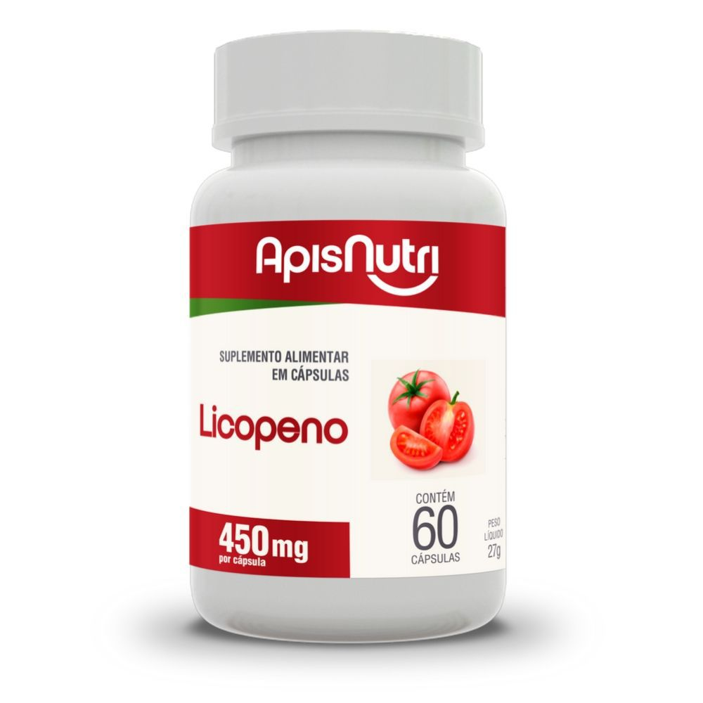Licopeno de Tomate - 60 Cáps. - 450 mg - Apisnutri