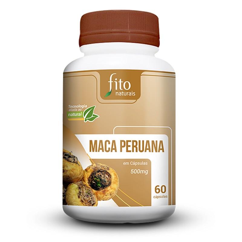 Maca Peruana - 60 Cáps. - 500mg - Fito Naturais