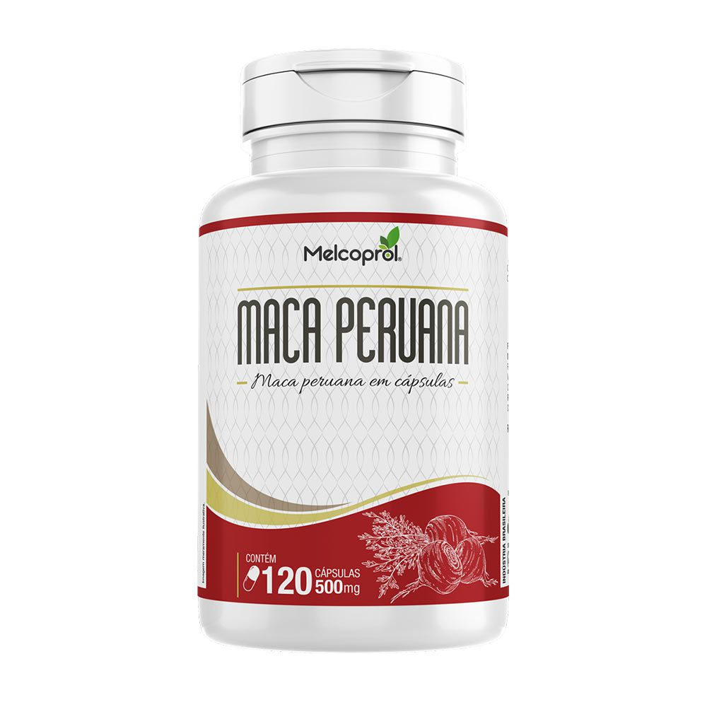 Maca Peruana - 120 cáps - 500mg - Melcoprol