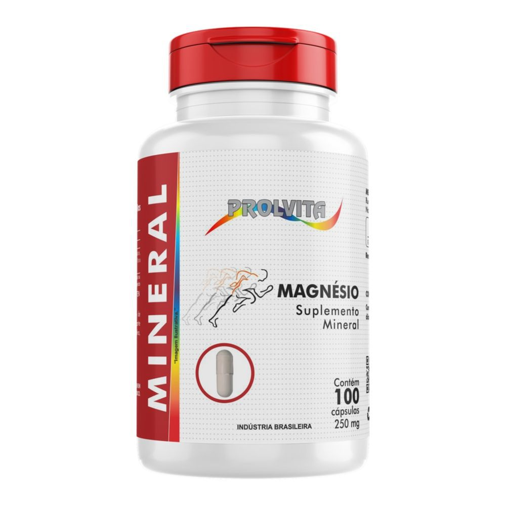 Magnésio Suplemento Mineral - 100 Cáps. - Melcoprol