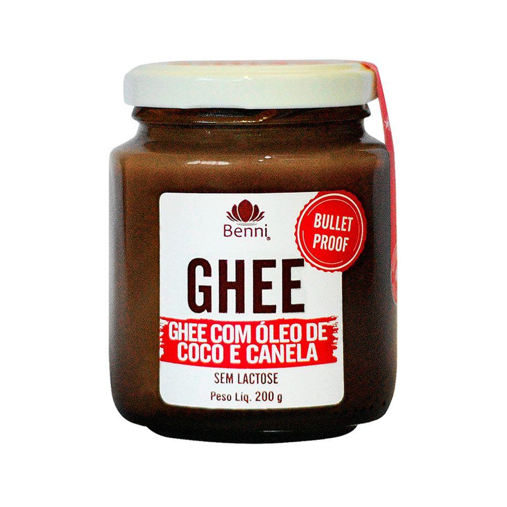 """Manteiga GHEE com Óleo de Coco e Canela """"BulletProof"""" - 200g - Benni"""