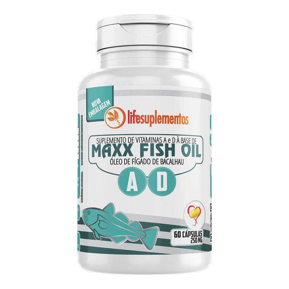 Óleo de Figado de Bacalhau - Maxx Fish Oil - 60 Cápsulas - Melcoprol