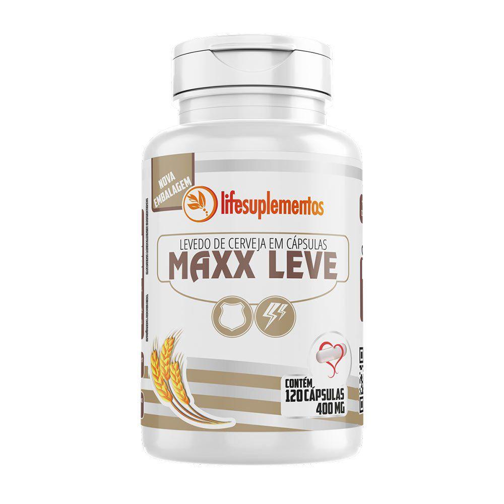Maxx Leve - Levedo de Cerveja - 120 Cáps. - 400mg - Melcoprol