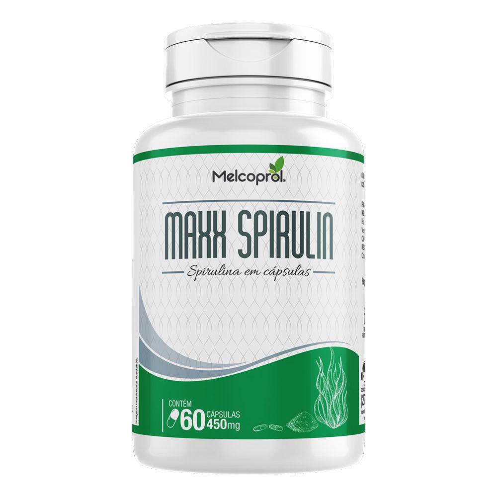 Maxx Spirulin - Spirulina - 60 Cáps. - 450mg  - Melcoprol