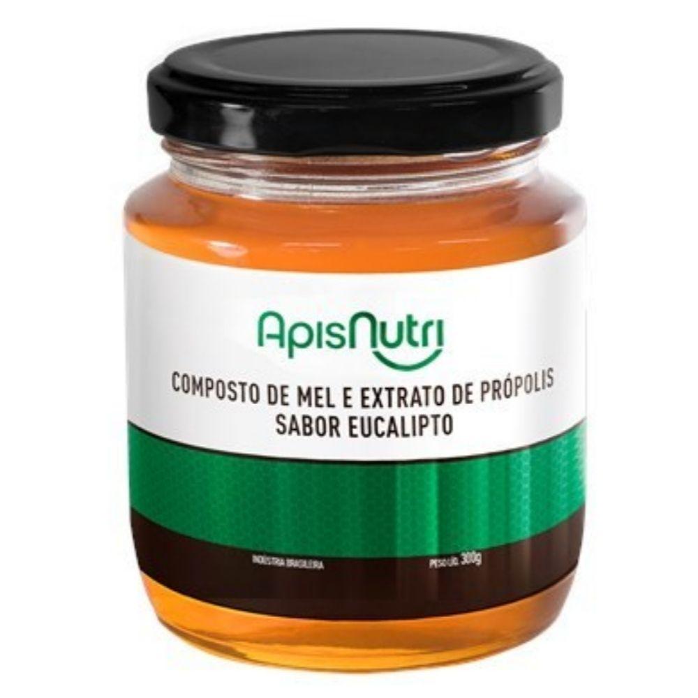 Mel Composto com Própolis e Eucalípto - 300g - Apisnutri