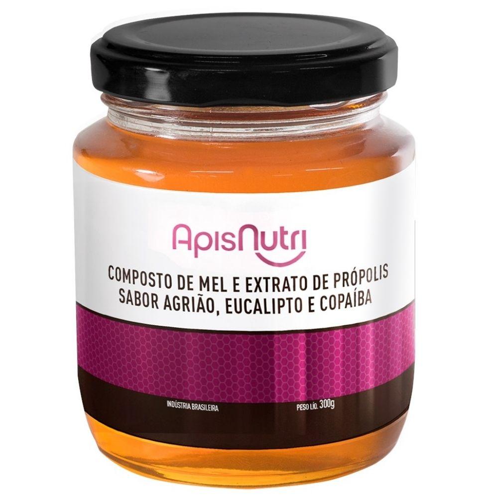 Mel Composto Própolis Eucalipto Agrião e Copaiba - 300G -  Apisnutri