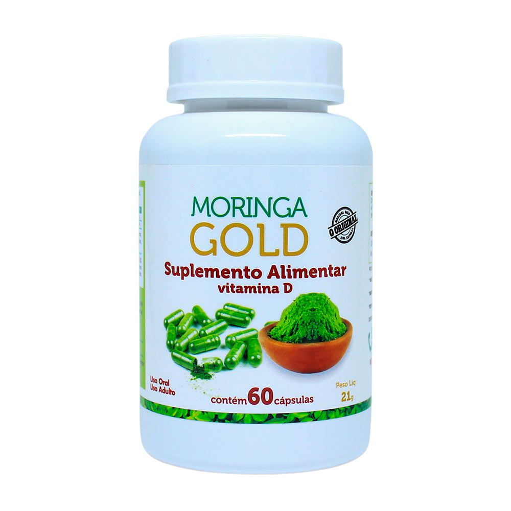 Moringa Gold com Vitamina D - 60 Cápsulas - God Green