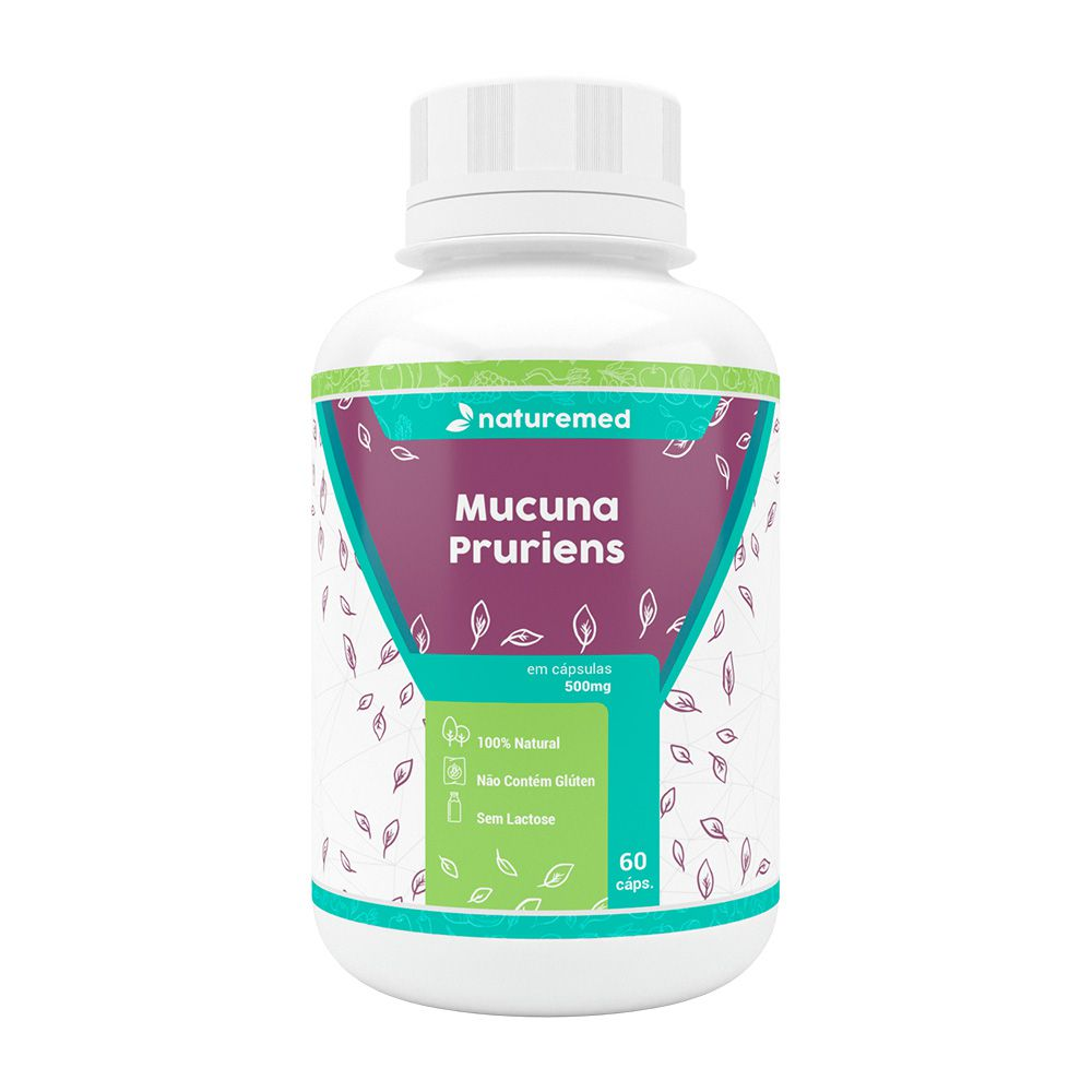 Mucuna Pruriens - 60 cáps - 500mg - Naturemed