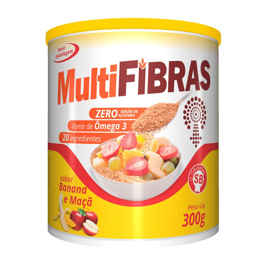 Multi Fibras - Sabor Banana e Maça - 300g - Apisnutri