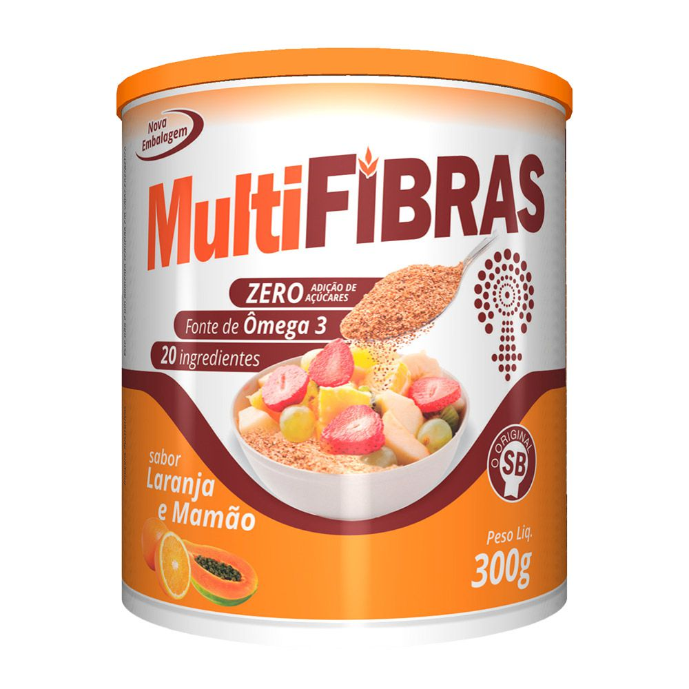 Multi Fibras - Sabor Laranja e Mamão - 300g - Apisnutri