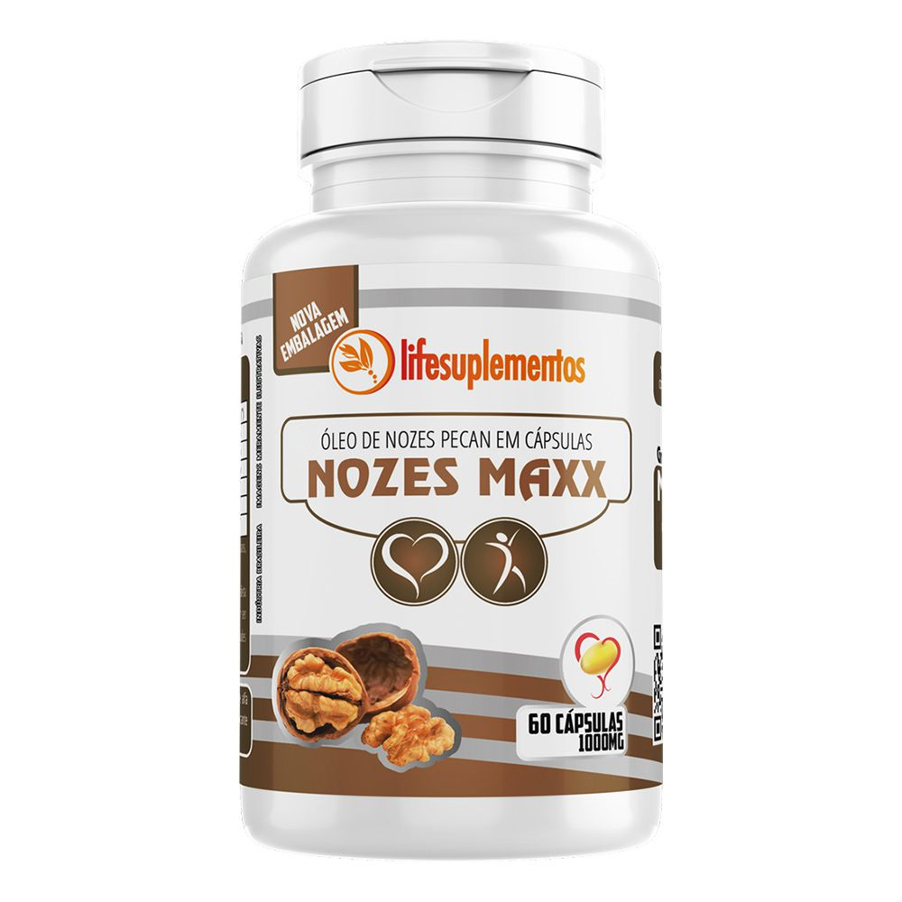 Óleo de Nozes Pecan - Nozes Maxx - 60 Cáps. - 1000mg - Melcoprol